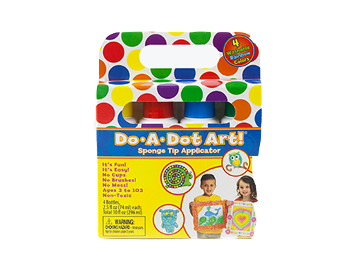 Rainbow 4 Pack Dot Markers