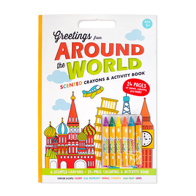 Activity Coloring Book with Scented Crayons