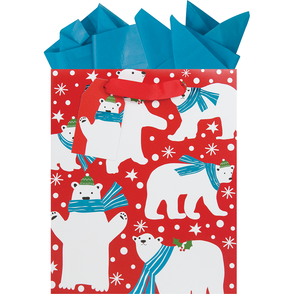 Beary Chrisrtmas Medium Gift Bag