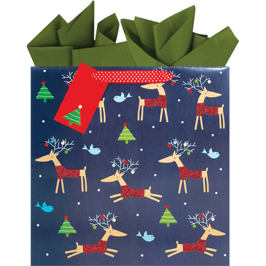 Rollicking Reindeer Medium Gift Bag