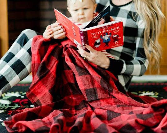 Cotton Muslin Swaddle Blanket - Red Plaid