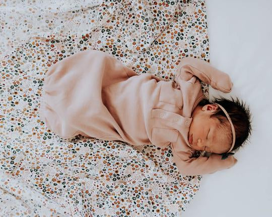 Cotton Muslin Swaddle Blanket - Pressed Petals