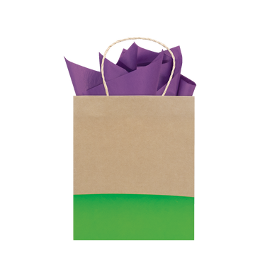 Lime Dipped Kraft Tote