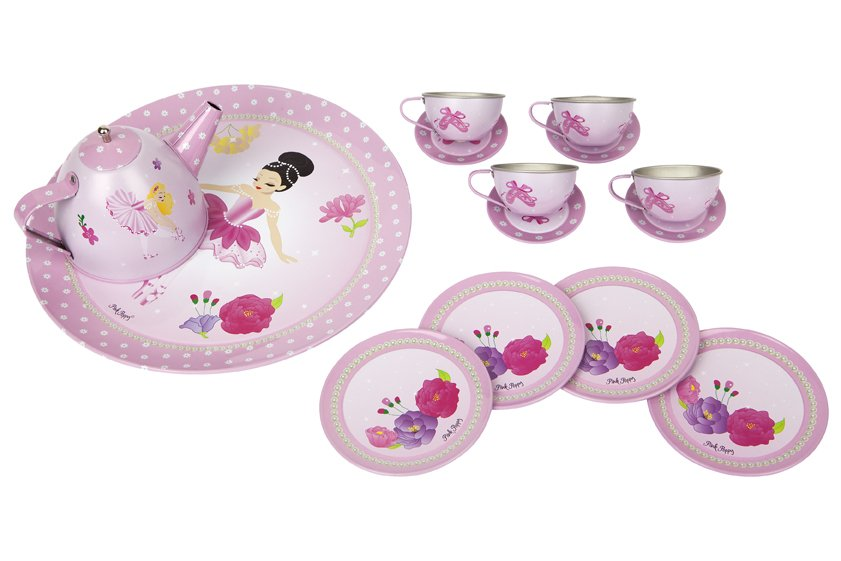 Ballerina Bouquet Tea Set in Case