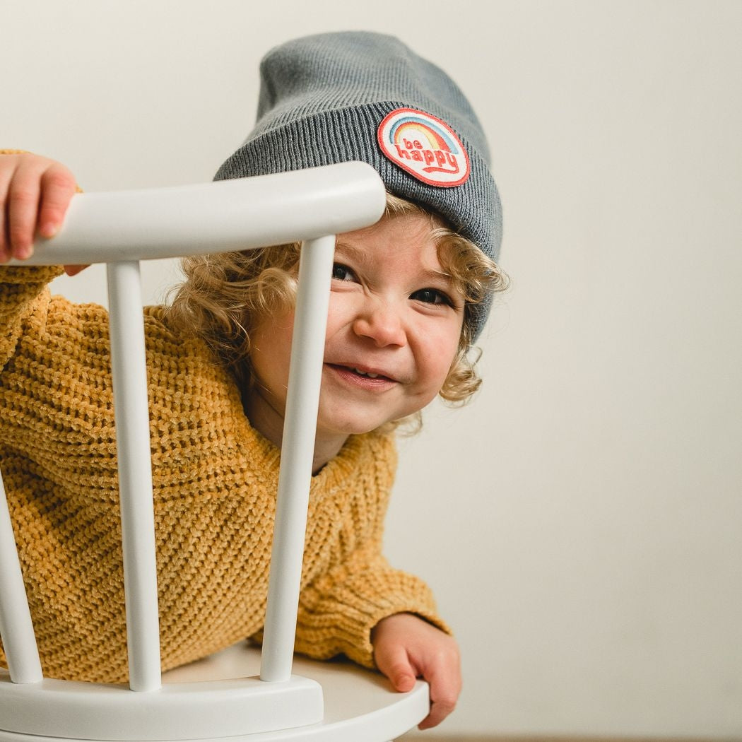Be Happy Beanie (Infant/Toddler Sized, Pacific)