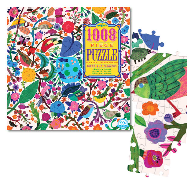 Birds and Flowers 1008 Piece Family Puzzle