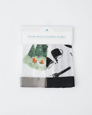 Cotton Muslin Security Blanket 2 pack - Happy Camper + Camp Gear