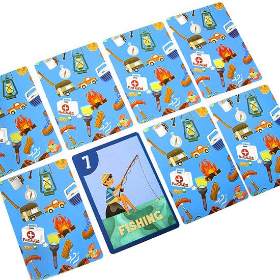 Little Likes Kids Camping Outdoors Go Fish! Playing Cards