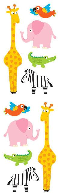 Chubby Zoo Animals Stickers