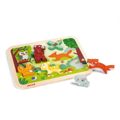 Janod Chunky Puzzle Forest 7pc