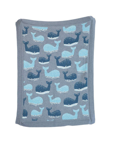 Whale Cotton Knit Blanket-700 Thread Count