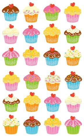 Cupcake Bonanza Reflections Stickers