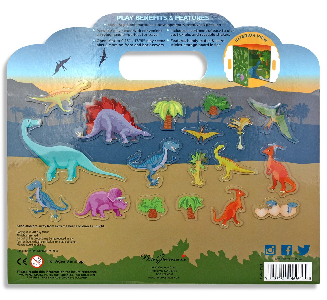 Dinosaurs Peel and Play Activity Set