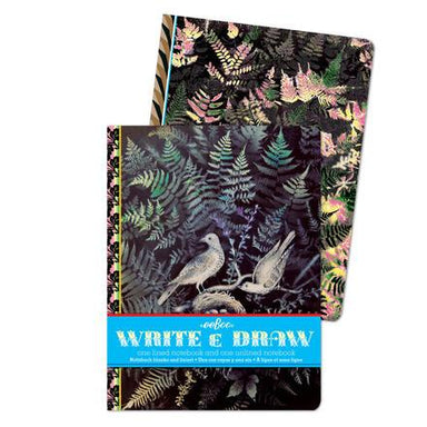 Doves In Ferns Write and Draw Notebook Set
