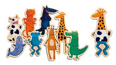 Crazy Animals Magnetic Game