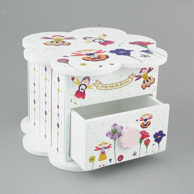 Petal Fairy Wooden Chest with Trinket Box