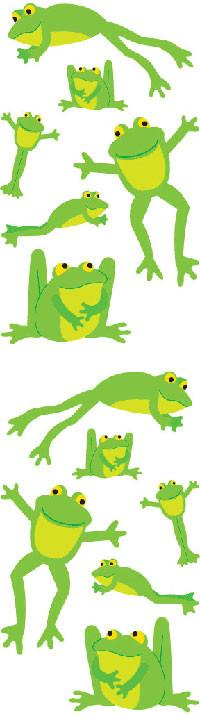 Playful Frogs Stickers