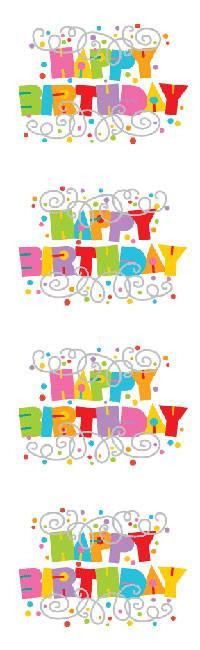 Expressions Happy Birthday Reflections Stickers