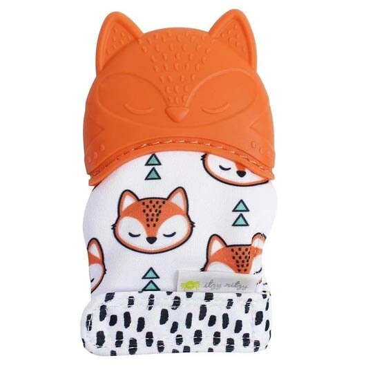 Itzy Mitt Silicone Teething Mitts - Fox