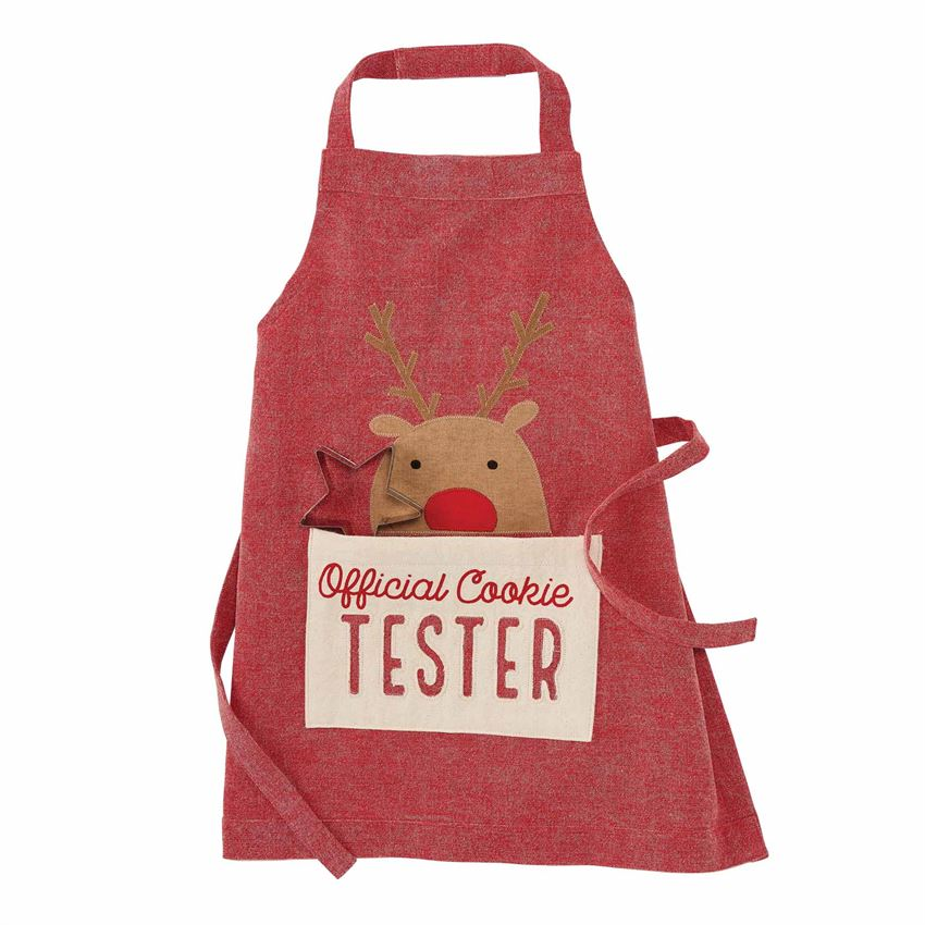 Kids Reindeer Christmas Apron Set