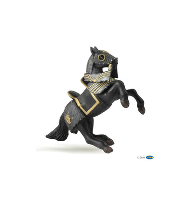 Knight in Black Armor Horse
