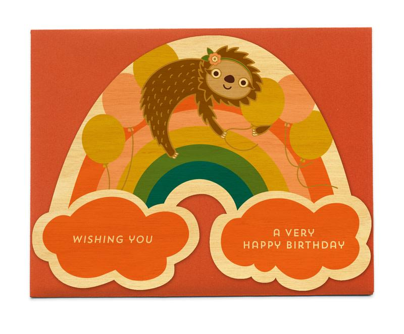 Party Sloth Card