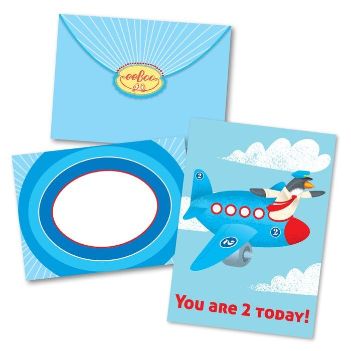 Plane Second Birthday Card
