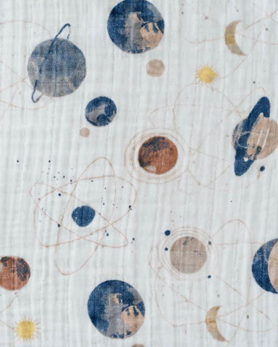 Cotton Muslin Swaddle Single - Planetary