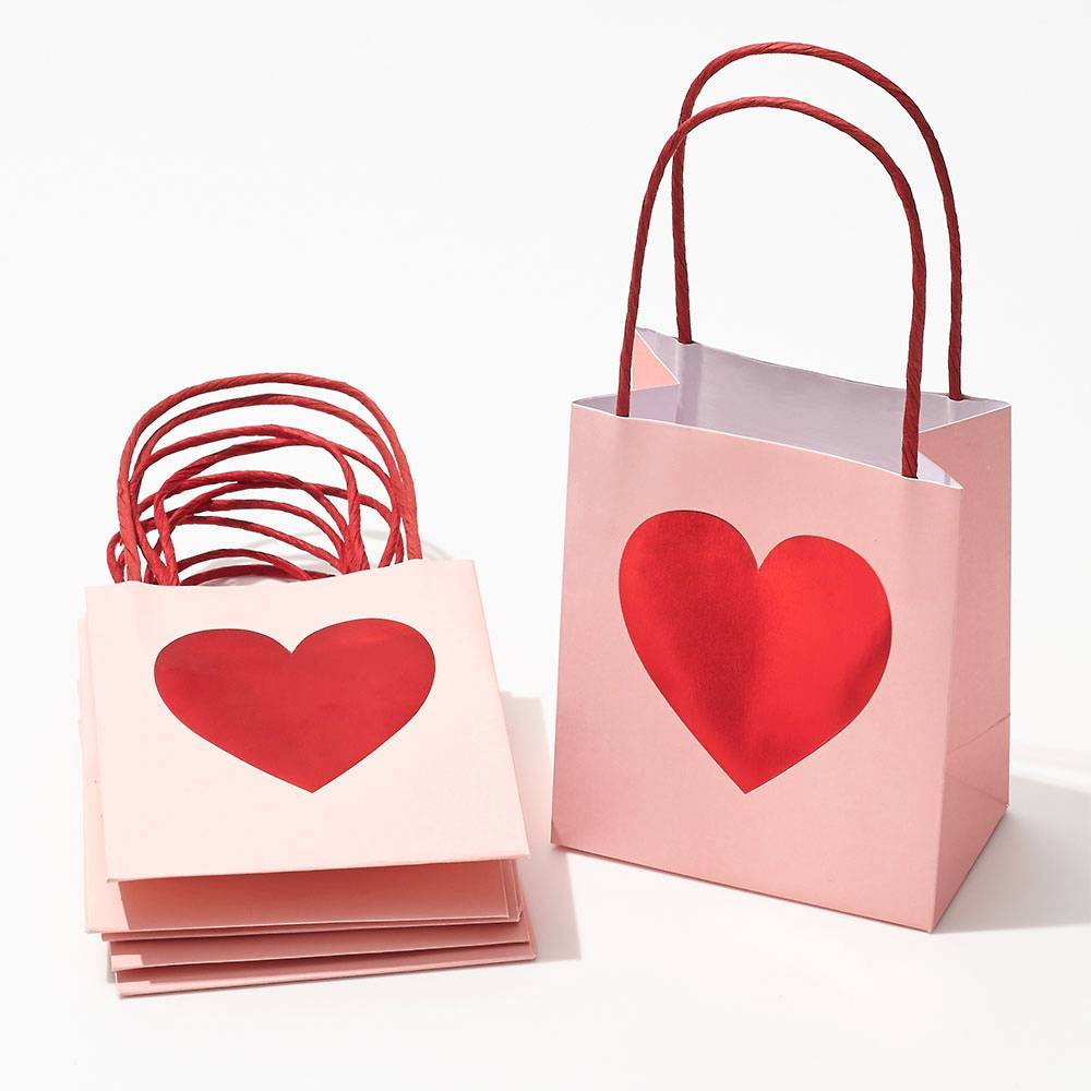 Red Foil Heart Treat Bags