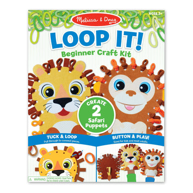 Loop It! Safari Puppets Beginner Craft Kit