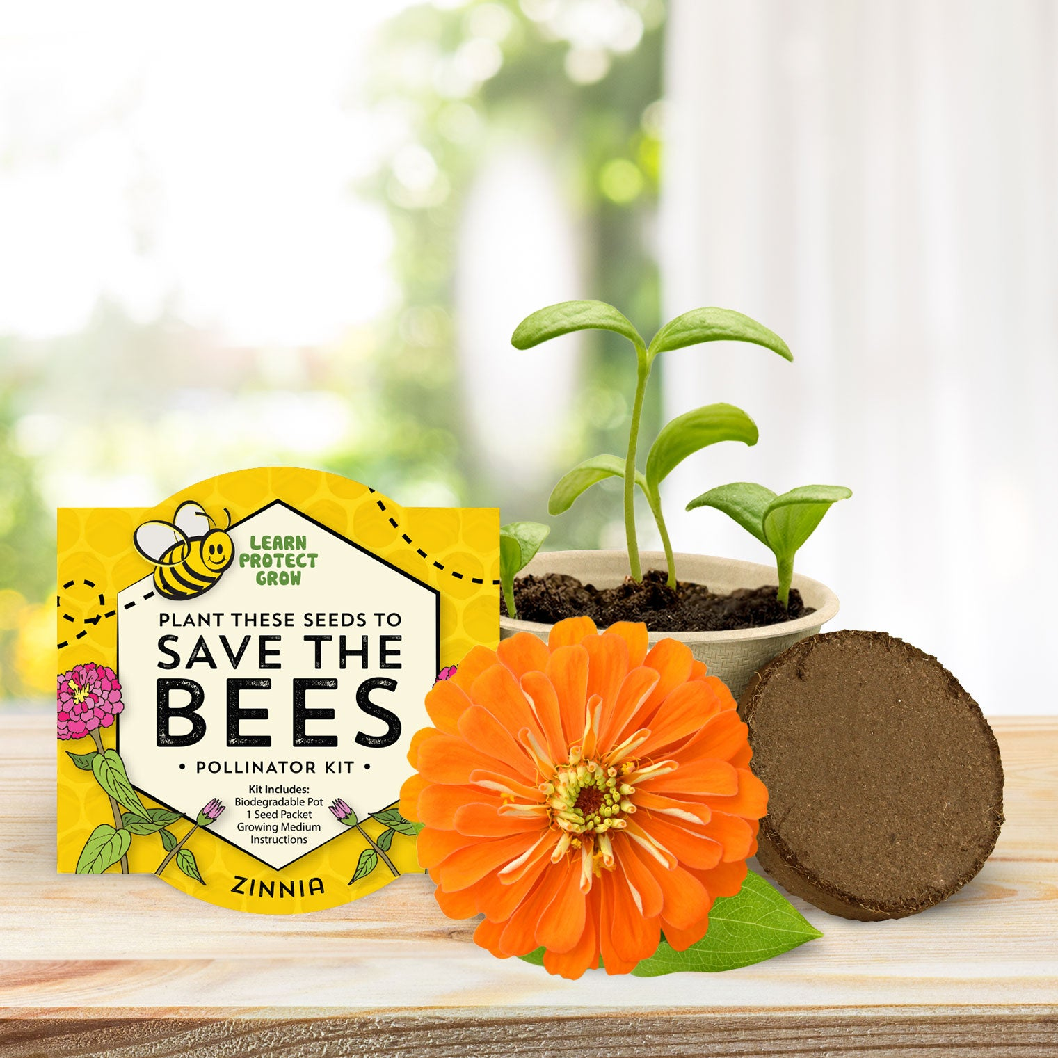 Save the Bees - Biodegradable Grow Kit