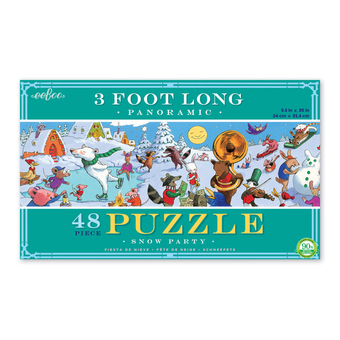 Snow Party 48 Piece Panoramic Puzzle