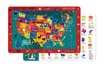 United States of America Two-Sided Placemat