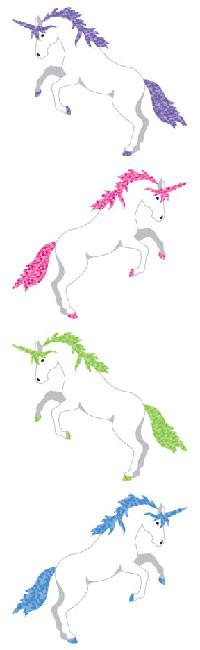 Unicorn, Sparkle Stickers