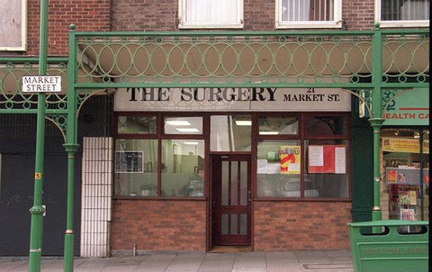 Dr Harold Shipman's surgery in Hyde. Pictured in October 1999