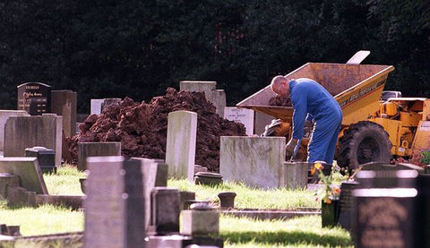 Police exhume a body of one of Harold Shipman's victims in Hyde