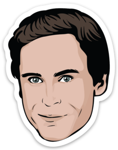 Ted Bundy Sticker