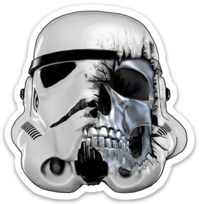 Dead Stormtrooper Sticker