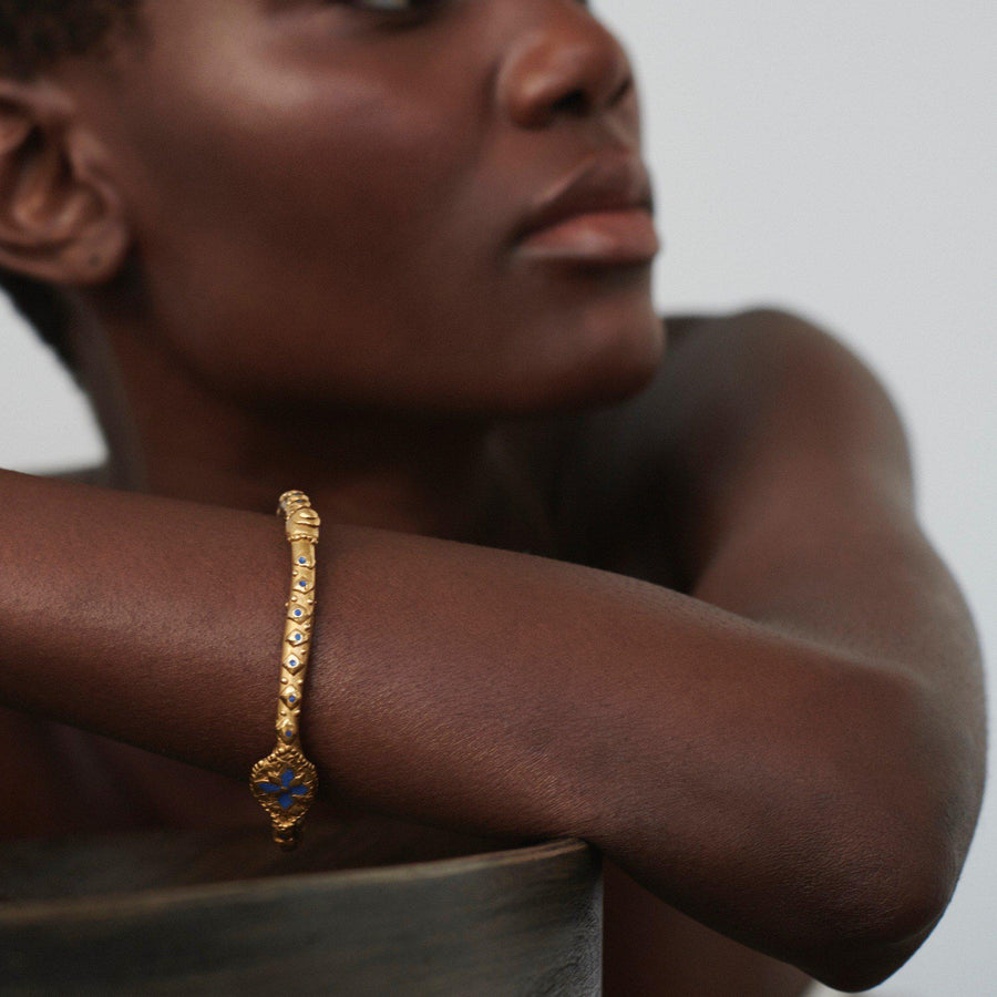 The Hidden Language Bangle- Gold Plated Recycled Silver Chunky Bangle