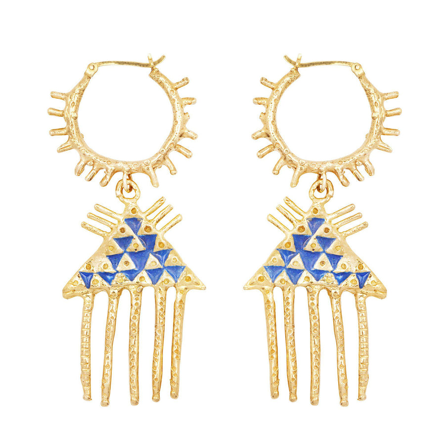 The Comb of Discernment Earrings- Enamel