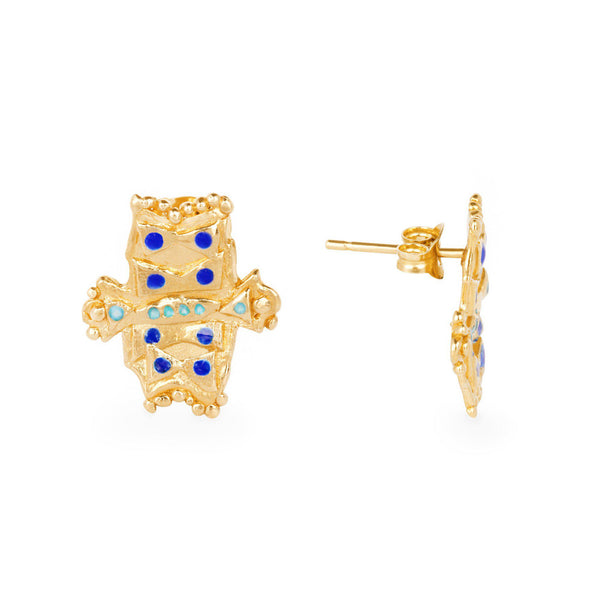 Radiant Creature Stud Earrings