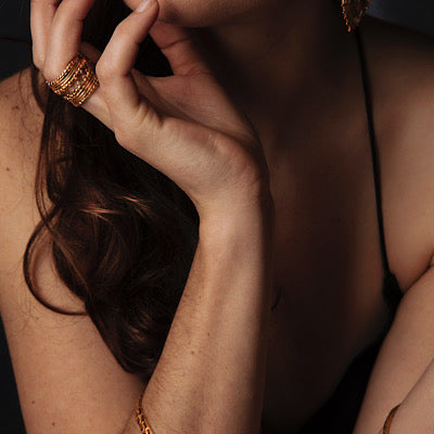 Loren Lewis Cole Jewellery Ancient Inspired Talismanic gold rustic unrefined sensual magical storytelling