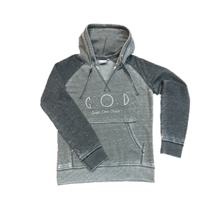 Fleece Hood-Grey/Black
