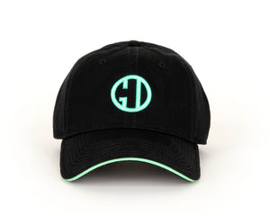 Ladies Black/Mint Logo Cap