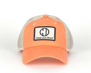 Ladies Melon/Tan Mesh Cap