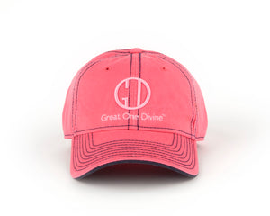 Ladies Pink 3-D Logo Cap