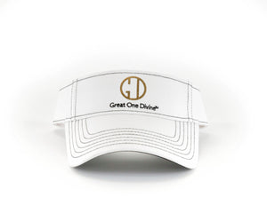 Ladies White Contrast Stitch Visor