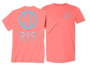 Great One Divine Tri-Logo-Coral Silk Tee