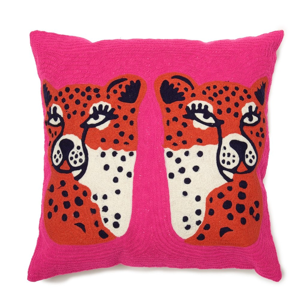 Twinning Cheetahs Pillow