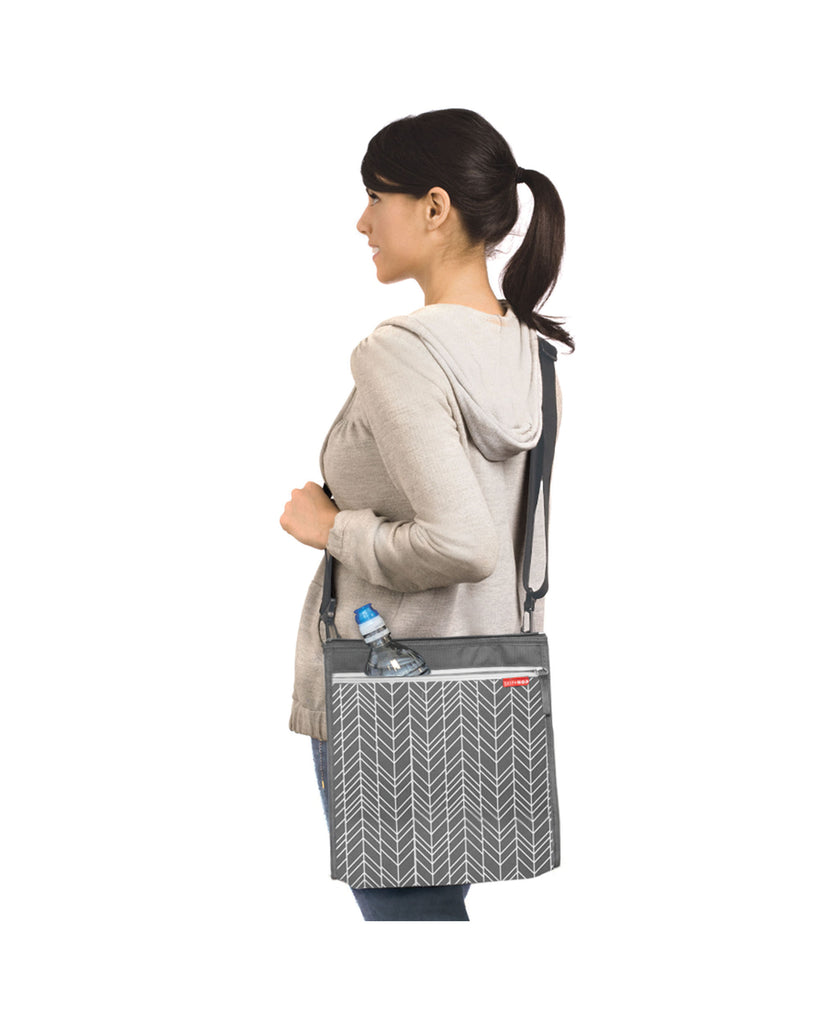 Skip Hop Central Park Outdoor Blanket & Cooler Bag Feather Grey